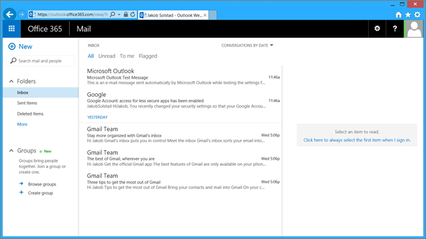Microsoft Office 365 Email